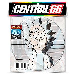 Adesivo Resinado Redondo Rick e Morty Cinza