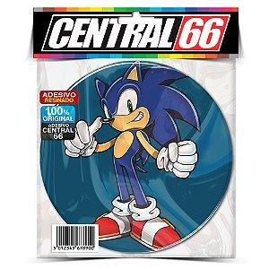 Adesivo Resinado Redondo Sonic Azul