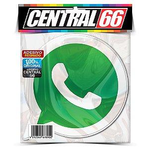 Adesivo Resinado Whatsapp Logo