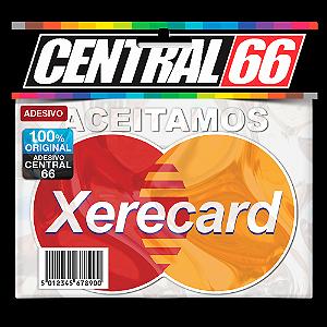 Adesivo Plotado Aceitamos Xerecard