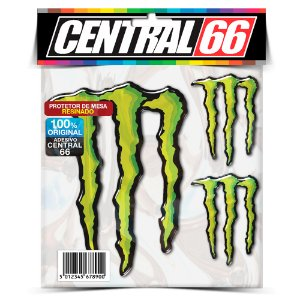 Kit Monstro Verde 3 Adesivos Resinados Monstro