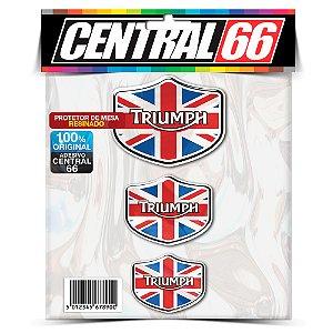 Kit Adesivos Emblema Triumph Inglaterra Resinado Promoção