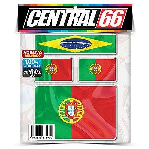 Kit Adesivos Bandeiras Portugal Resinado