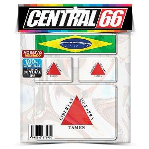 Kit Adesivos Bandeiras Minas Gerais Resinado