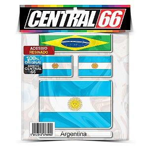 Kit Adesivos Bandeiras Argentina Resinado