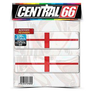 Kit 2 Adesivos Resinados Bandeiras Inglaterra