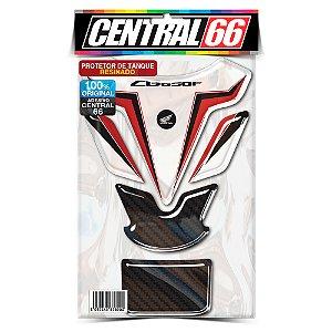 Tankpad Honda CB 650F M1 - Branco/Vermelho Adesivo Protetor Resinado