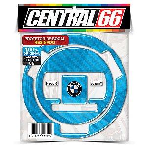 Bocal Adesivo Bmw F800r 2010 Carbono Resinado Protetor Azul