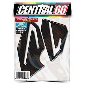 Protetor de Pedaleira Resinado Triumph Daytona 675 Até 2013 - Carbono Preto