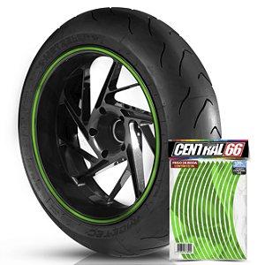 Adesivo Friso de Roda Universal M1 Verde Refletivo Filete Aro 13 ao 21