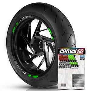 Adesivo Friso de Roda M2 Honda Verde Filete Refletivo