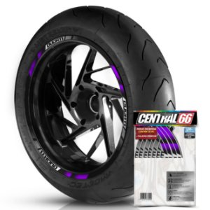 Adesivo Friso de Roda M2 Ducati Roxo Filete Refletivo