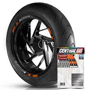 Adesivo Friso de Roda M2 Ducati Laranja Filete Refletivo