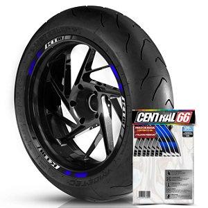 Adesivo Friso de Roda M2 KTM Azul Filete Refletivo