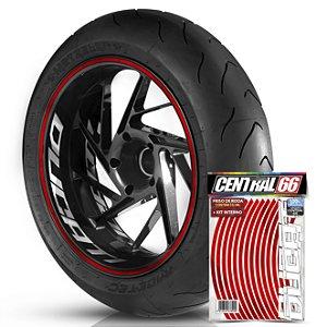 Kit Adesivo Interno de Roda G Ducati + Friso Vermelho Refletivo