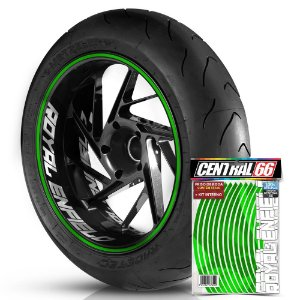 Kit Adesivo Interno de Roda G Green + Friso Verde Refletivo