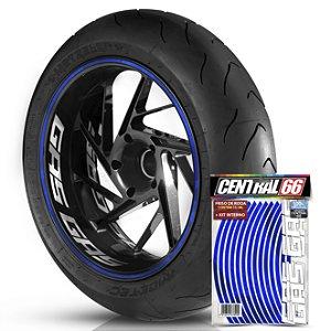 Kit Adesivo Interno de Roda G Gas Gas + Friso Azul Refletivo