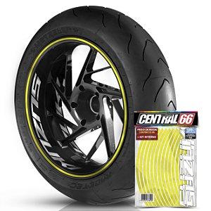 Kit Adesivo Interno de Roda G Suzuki + Friso Amarelo