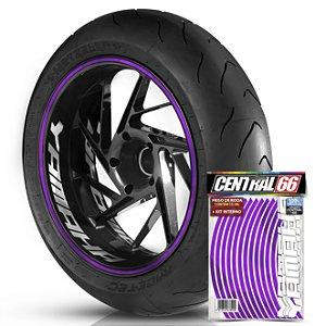 Kit Adesivo Interno de Roda G Yamaha + Friso Roxo