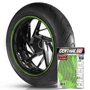 Kit Adesivo Interno de Roda P Ducati + Friso Verde Refletivo