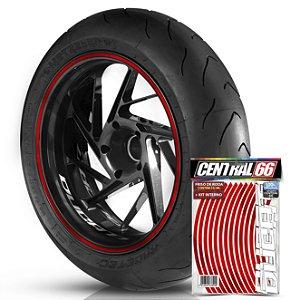 Kit Adesivo Interno de Roda P Ducati + Friso Vermelho Refletivo