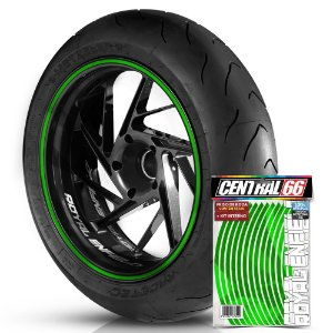 Kit Adesivo Interno de Roda P Green + Friso Verde Refletivo