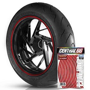 Kit Adesivo Interno de Roda P Triumph + Friso Vermelho Refletivo