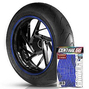 Kit Adesivo Interno de Roda P Bimota + Friso Azul Refletivo