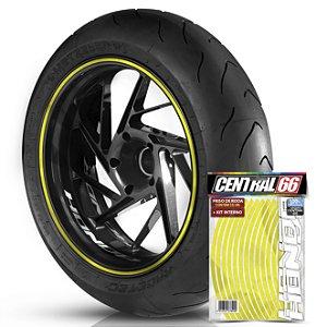 Kit Adesivo Interno de Roda P Honda + Friso Amarelo