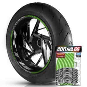 Adesivo Friso de Roda M1 +  Palavra Ktm ADVENTURE 950 + Interno G KTM - Filete Verde Refletivo