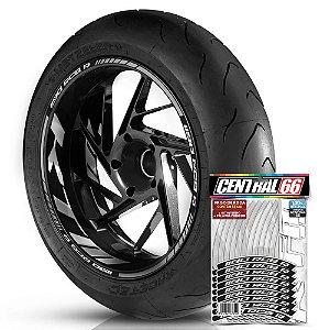 Adesivo Friso de Roda M1 +  Palavra 1190 RC8 R + Interno G KTM - Filete Prata Refletivo