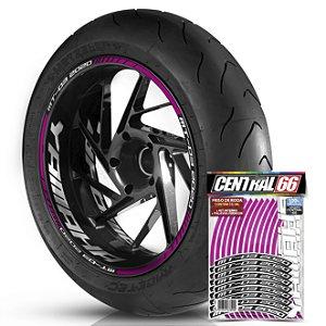 Adesivo Friso de Roda M1 +  Palavra MT 03 2020 + Interno G Yamaha - Filete Rosa