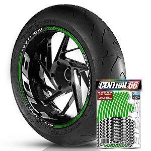 Adesivo Friso de Roda M1 +  Palavra ATV 100 + Interno G Adly - Filete Verde Refletivo