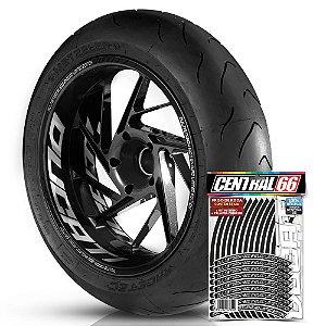 Adesivo Friso de Roda M1 +  Palavra MULTISTRADA 1200 ENDURO LIMITED EDITION + Interno G Ducati - Filete Preto