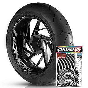 Adesivo Friso de Roda M1 +  Palavra CG 150 FAN ESI + Interno G Honda - Filete Preto