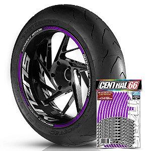 Adesivo Friso de Roda M1 +  Palavra BANDIT 1200S + Interno G Suzuki - Filete Roxo