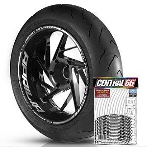 Adesivo Friso de Roda M1 +  Palavra CLASSIC 50 + Interno G Aprilia - Filete Branco