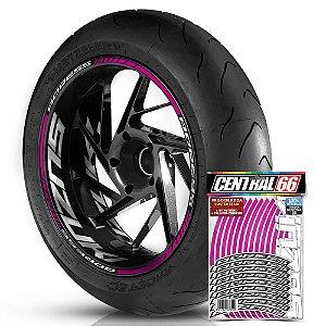 Adesivo Friso de Roda M1 +  Palavra ADRESS + Interno G Suzuki - Filete Rosa