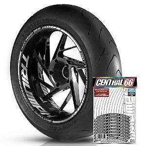 Adesivo Friso de Roda M1 +  Palavra DAYTONA 955i + Interno G Triumph - Filete Branco