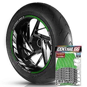 Adesivo Friso de Roda M1 +  Palavra SUPER 125 R + Interno G MVK - Filete Verde Refletivo