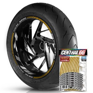 Adesivo Friso de Roda M1 +  Palavra SX 85 + Interno G KTM - Filete Dourado Refletivo