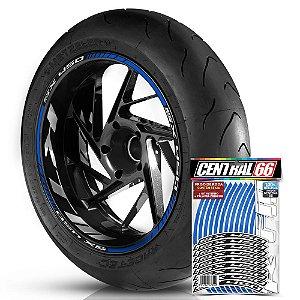 Adesivo Friso de Roda M1 +  Palavra SX 450 + Interno G KTM - Filete Azul Refletivo