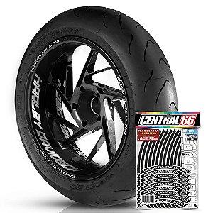 Adesivo Friso de Roda M1 +  Palavra ROAD GLIDE ULTRA + Interno G Harley Davidson - Filete Preto