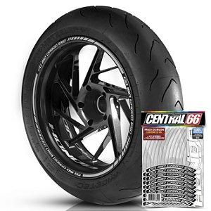 Adesivo Friso de Roda M1 +  Palavra CG 150 CARGO ESD + Interno P Honda - Filete Prata Refletivo