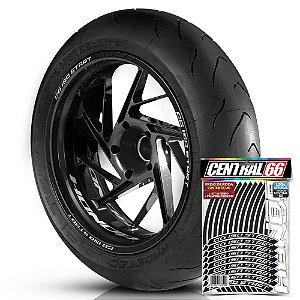 Adesivo Friso de Roda M1 +  Palavra CG 150 START + Interno P Honda - Filete Preto