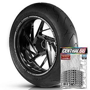 Adesivo Friso de Roda M1 +  Palavra EXC 450 + Interno P KTM - Filete Prata Refletivo