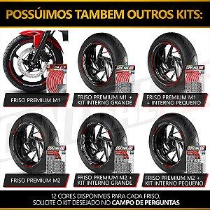 Adesivo Friso de Roda M1 +  Palavra RS 250 + Interno P Aprilia - Filete Vermelho Refletivo