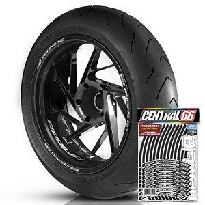 Adesivo Friso de Roda M1 +  Palavra SR RACING 50 + Interno P Aprilia - Filete Preto