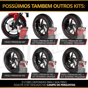 Adesivo Friso de Roda M1 +  Palavra SUPER SPORT S 937 + Interno P Ducati - Filete Prata Refletivo