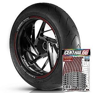 Adesivo Friso de Roda M1 +  Palavra TIGER XCX + Interno P Triumph - Filete Vinho
